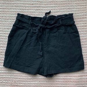 HAVE - Black Large Cotton Shorts